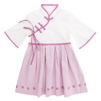 Girl Dress Chinese Style Turtleneck Han Chinese Clothing Baby Girl Princess Dress Children S Clothing Pink