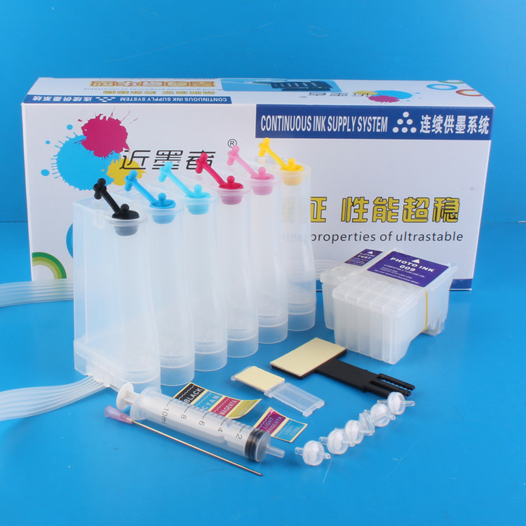 Universal 6Color Continuous Ink Supply System CISS kit with full accessaries <font><b>bulk</b></font> ink tank for EPSON 1270 1280 1290 Printer CISS image