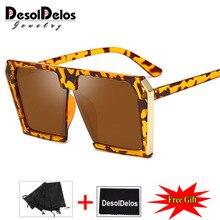 New Oversize Square Sunglasses Women Double Colors Frame Mirror Shades 2019 Vintage Brand Design Big Sun Glasses Femme