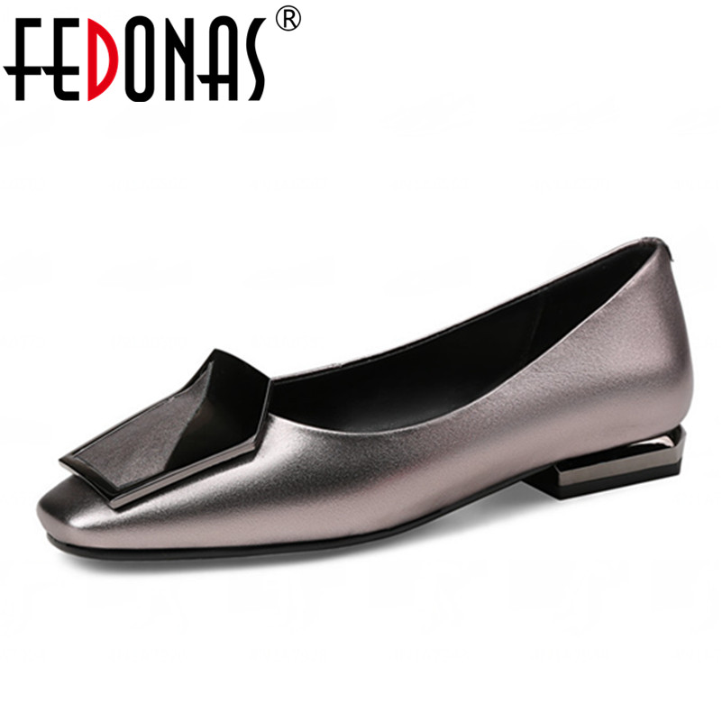 FEDONAS 2020 New Fashion Women Genuine Leather Shoes Square Toe Thin High Heels Luxury Shoes Woman Wedding Party Pumps Big Size