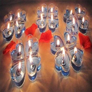 97a38f831 40 unids/set DIY de vela de moda perfumada vela sin humo vela de cumpleaños  romántico corazón con regalos velas Decoración