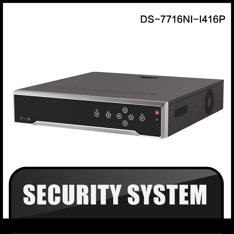 HIK DS-7716NI-I4/16P Original Updatable English Version 16CH NVR  16POE Interface IP Camera Network Video  4SATA  HDD hik ds 7716ni i4 16p original updatable english version 16ch nvr 16poe interface ip camera network video 4sata hdd