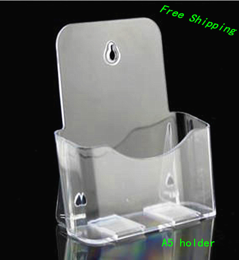 10pcs Clear A5 Single Plastic Brochure Pamphlet Literature Display Holder Racks Stand to Insert Leaflet On Desktop clear acrylic a3a4a5a6 sign display paper card label advertising holders horizontal t stands by magnet sucked on desktop 2pcs
