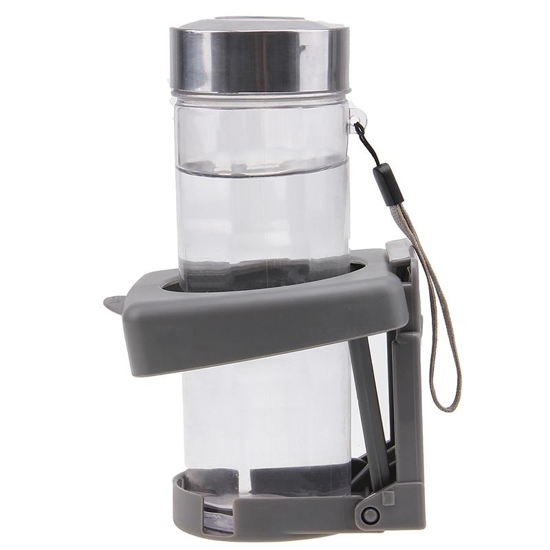 Universal Car Water Cup Bottle Drinks Holder Stand Holder Foldable Black