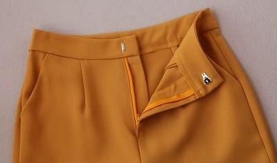 Cintura Mujer Cinturón 1 Nuevo Traje De Las 2 Primavera Dos Piezas Calidad Alta Rectos Pantalones Mujeres Pantalón Temperamento SrwqPS
