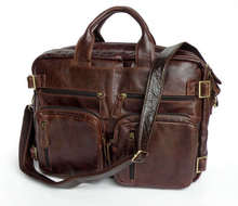100% Genuine Leather Applied Style Men's Business Laptop Bag Cool Computer Backpacks 7026R