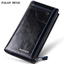 FALAN MULE vintage men wallets genuine leather long business