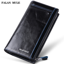 FALAN MULE vintage men wallets genuine leather long business