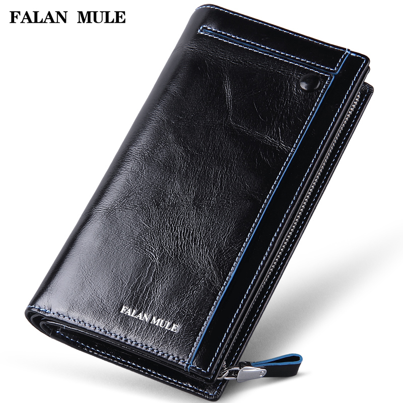 FALAN MULE vintage men wallets genuine leather long business casual clutch purse card holder wallet aetoo genuine leather wallets men wallets clutch male purse long wallet clutch men bag card holder purse phone holder vintage