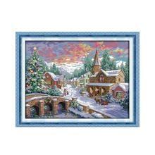 Christmas celebrations, winter snow, cross stitch prints, precision embroidered cloth winter, European Christmas fun map