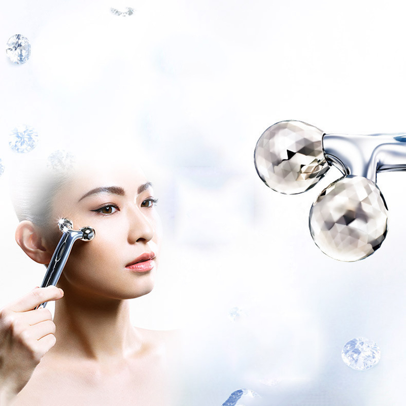 3D Roller Face Massage 360 Rotate Silver Thin Face Full Body Shape Massager Lifting Wrinkle Remover Facial Relaxation Tool горелка tbi sb 360 blackesg 3 м
