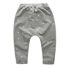 Kids 2015 new spring loaded Korean  five-pointed star printed baby boy pants harem pants trousers children