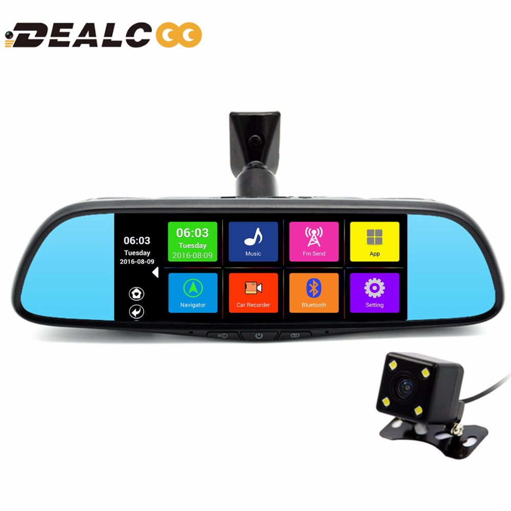 2017 New 7 Special Car GPS Navigation Mirror Bluetooth Android 16GB Car DVR Rearview Mirror 1080P