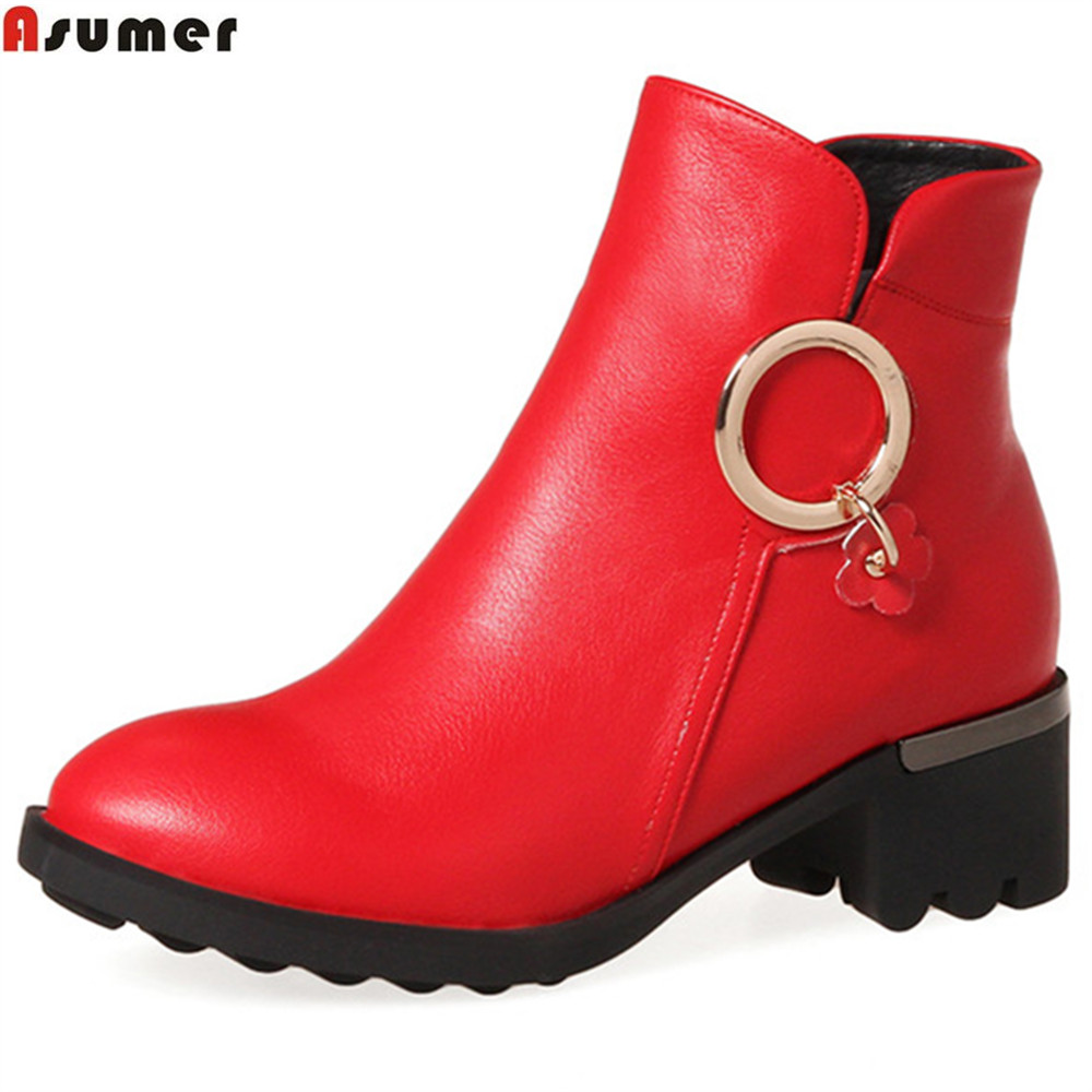 04d2f9714b0 ASUMER fashion autumn winter new arrive women boots zipper ladies boots  bling square heel round toe ankle boots big size 34-43 - aliexpress.com -  imall.com