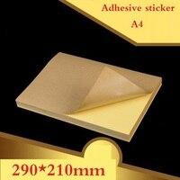 100 Sheets/lot A4 size Blank Kraft adhesive sticker/Self adhesive A4Kraft Label Paper for Laser Inkjet Printer Packaging Label