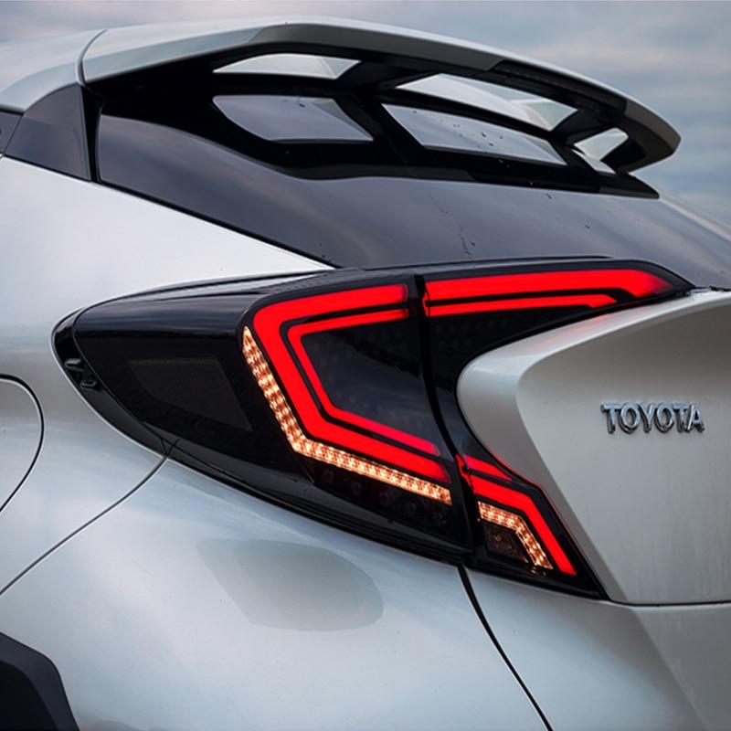 Feu arrière style voiture pour Toyota CHR feu arrière 2018-2019 CHR LED feu arrière DRL Signal dynamique frein accessoires auto