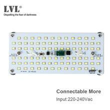 LED מודול 10W 220V 230V אין הבהוב מלבן Led פנל אור עבור החלפת מנורת מקור צינור
