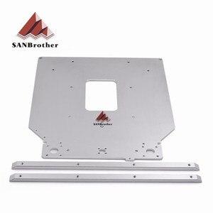 Darmowa wysyłka Ultimaker 2 UM2 Z stół płyta podstawowa platforma wspornik wspieranie aluminium podgrzewane gorące łóżko płyta części drukarki 3D