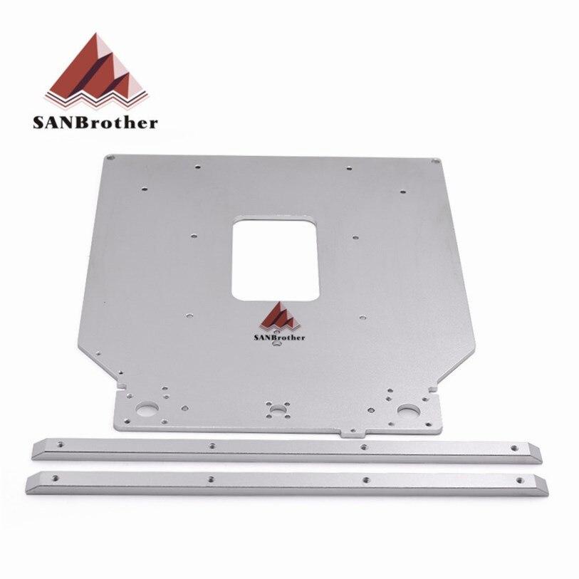 Livraison Gratuite Ultimaker 2 UM2 Z Table Plaque De Base plate-forme support de support en aluminium chauffée chaude lit plaque 3D imprimante pièces
