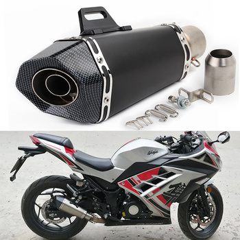 Motorcycle muffler exhaust pipe akrapovic escape moto with DB killer For gsr750 er6n cb1000r 400NK MT07 cbr650f sv650 silp on