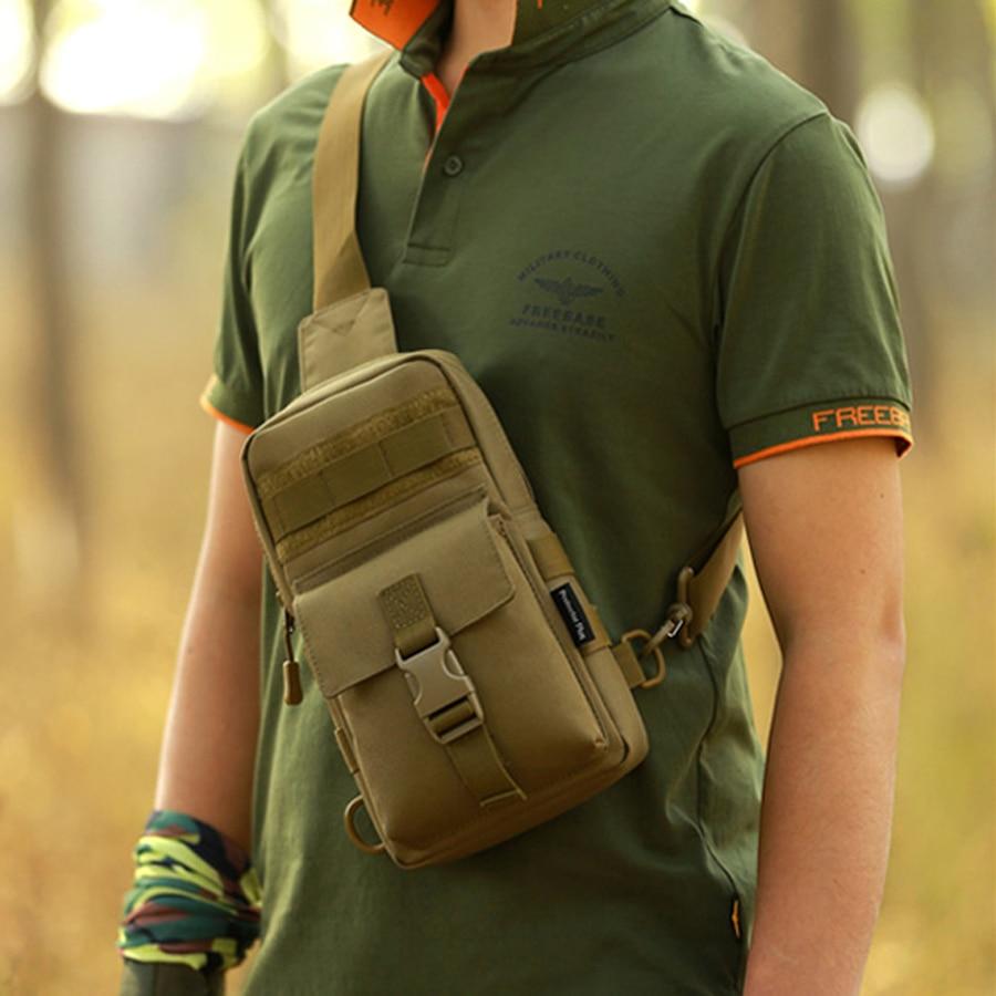 Unisex nylon Oxford auduma daudzfunkcionāli vīriešu un sieviešu krūšu plecu somas kaktīte Taktiskā Sling Pack kempinga plecu pakete
