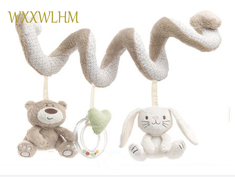 Baby Toy Spiral Bed&Stroller Bear Seat Hanging Bebe Educational PP Cotton Stuffed Plush Rattle Soft 0-12 months Baby toys