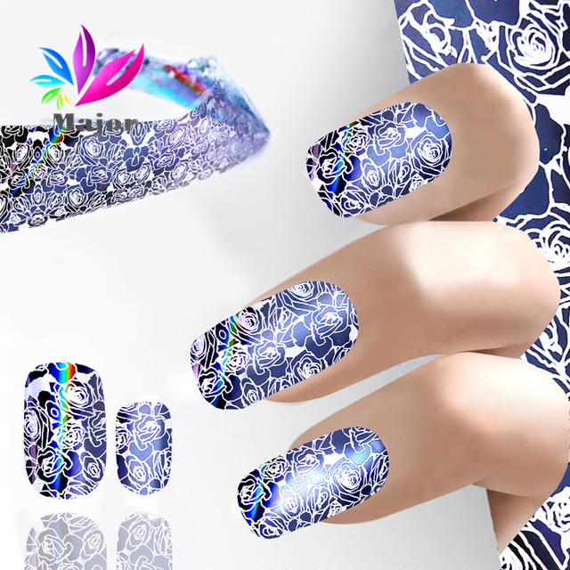 Shiny Laser Nail Art