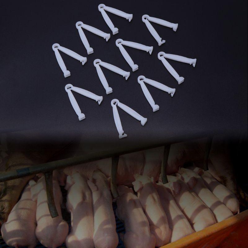 10 шт. свиньи пуповины зажим одноразовый зажим для проводов комплект для фермы ранчо поставки