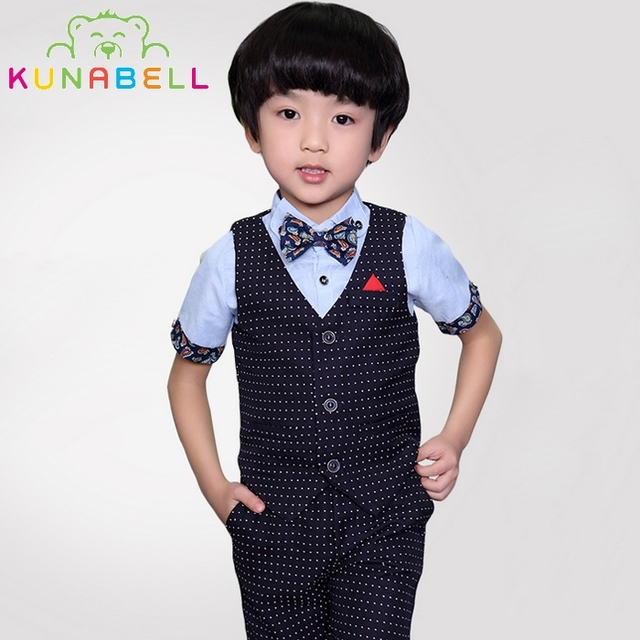 98ccd4e97 Children Baby Boy Birthday Clothes Tuxedos Wedding Dress Formal Suit ...