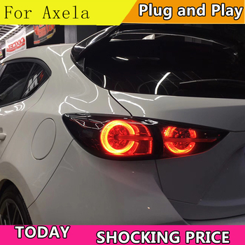 Car Styling for Mazda 3 Axela Hatchback Tail Lights 2013-2016 LED Tail Light dynamic turn signal Rear Lamp DRL+Brake+Park+Sign