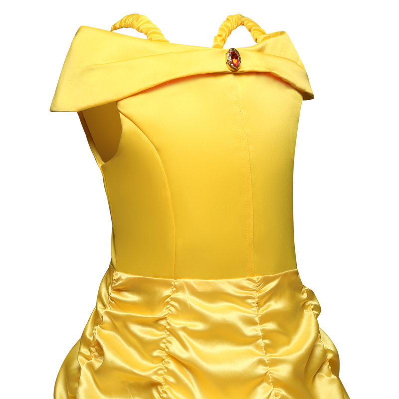 Image 5 - Cosplay Belle Princess Dresses for girls Beauty and the beast Costume Kids Birthday dress Children Halloween Girls Clothing-in Dresses from Mother & Kids