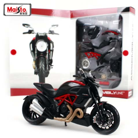 Maisto 1:12 ducati diavel carbon motorcycle diecast metal model kits assemble line motorcycle collection black free shipping(China)
