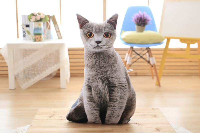 1pcs 50cm Soft 3D Simulation Stuffed Cat Toys Double-side Seat Sofa Pillow Cushion Cute Plush Animal Cat Dolls Toys Gifts (14)