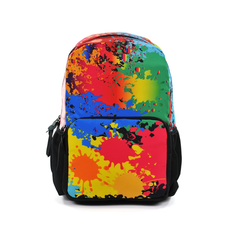 New Printing Backpack Big Capacity Graffiti Backpacks Multicolor School Bags Girls School Backbag Mochila Feminina jasmine traveling unisex graffiti backpacks 3d printing bags drawstring backpack sep28