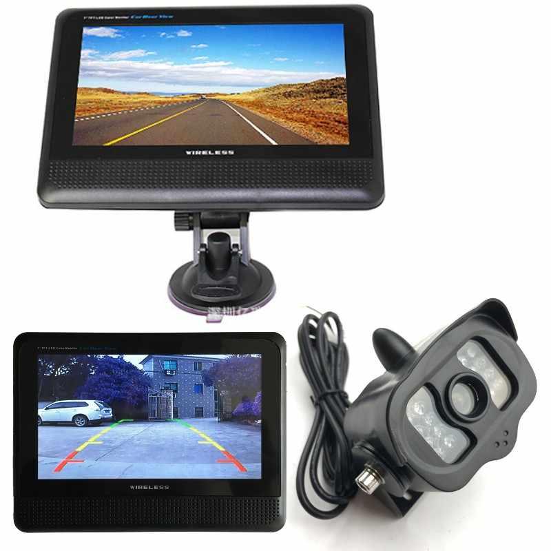 Caméra de recul sans fil avec moniteur vidéo Wifi, kit de caméra de ...