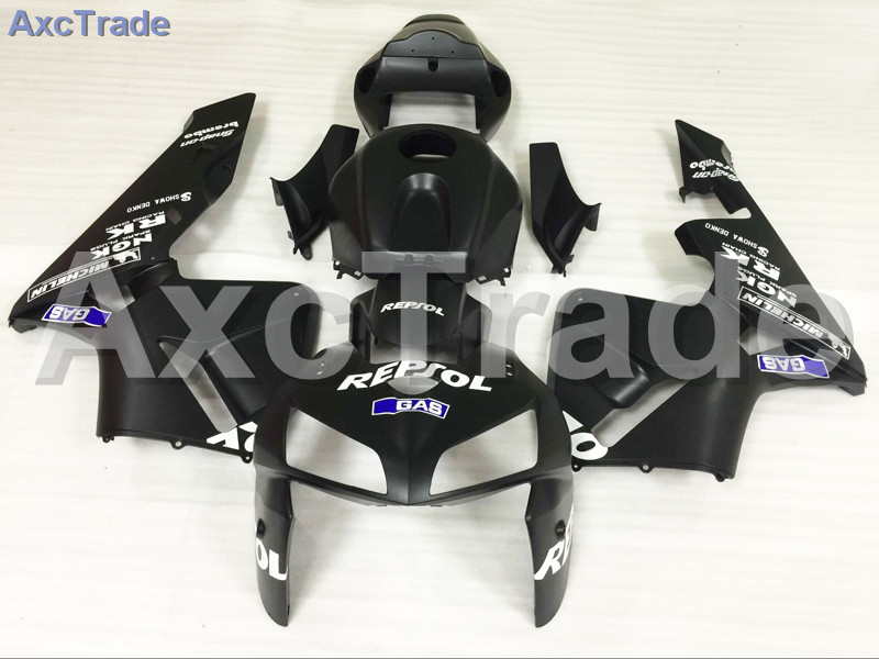 Motorcycle Fairings Kits For Honda CBR600RR CBR600 CBR 600 RR 2005 2006 F5 ABS Plastic Injection Fairing Kit Bodywork Black A605 injection mold fairing for honda cbr1000rr cbr 1000 rr 2006 2007 cbr 1000rr 06 07 motorcycle fairings kit bodywork black paint