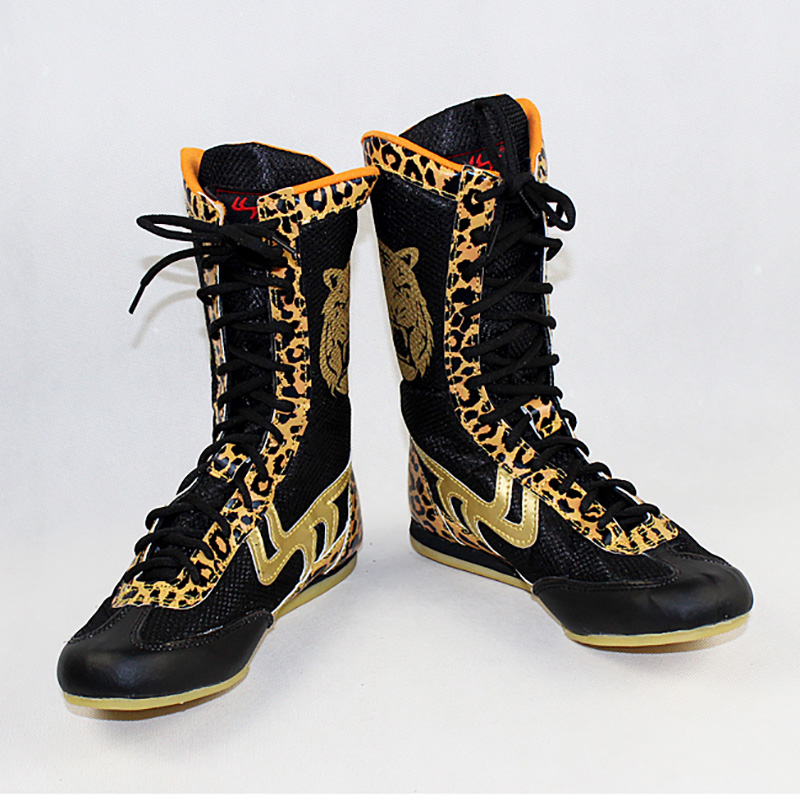 USHINE professional KungFu training shoes cow muscle sole lace-up shoes sneakers boxing shoes authentic wrestling shoes man бейсболк мужские