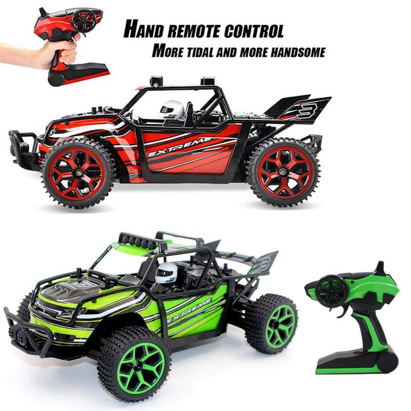 цена на High End RC Car Off Road Vehicle High Speed 20km/h 1:18 Scale 4x4 Fast Racing car 2.4 GHz Remote Control 4WD RC car toy vs 2098B