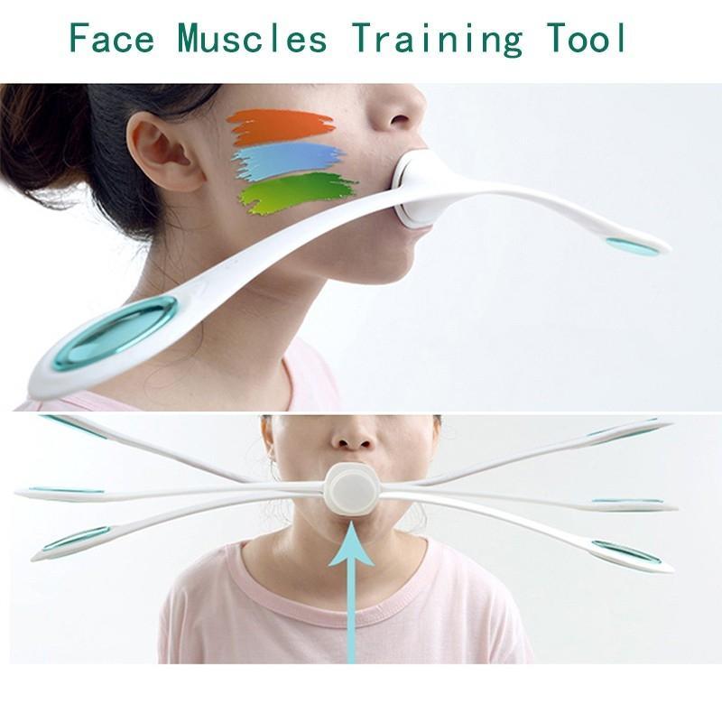 1 stücke Gesicht Muskeln Ausbildung Wand Roller Anti Falten Massager Lächeln Übung Gesichts Fitness Gesicht heben Schlanke Tool