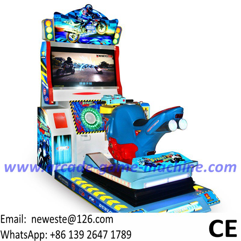 Guangzhou Manufacturer Arcade Machine Simulator Ride Motorbike Driving Moto Motor Bike Dynamic Car Racing Game Machine