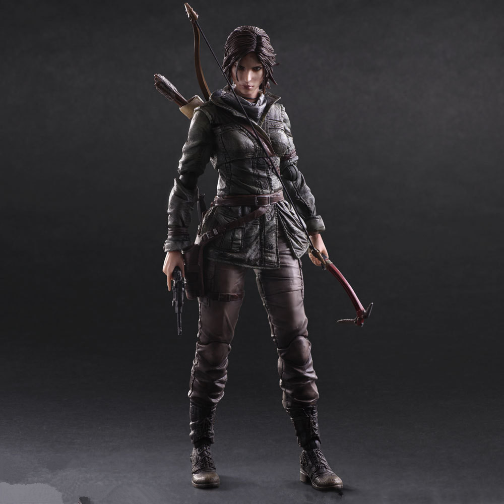 Game 26 CM Rise of The Tomb Raider Lara Croft Variant painted figure Variant Lara Croft PVC Action Figure Collectible Model Toy game 26 cm rise of the tomb raider lara croft variant painted figure variant lara croft pvc action figure collectible model toy