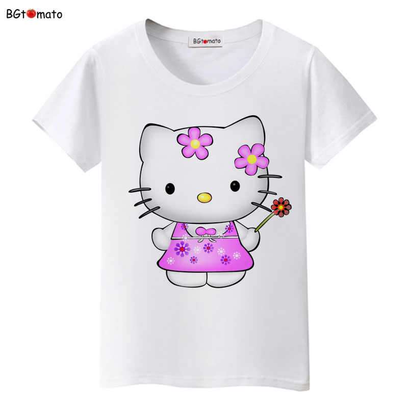 5eb6d5adea82 BGtomato lovely Hello Kitty princess t shirt women brand new clothes lovely  tshirt cool top tees