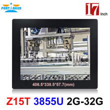 Buy Partaker Elite Z15T Industrial Panel PC All In One Pc With 2mm Slim 17 Inch Intel Celeron Dual Core 1037u directly from merchant!
