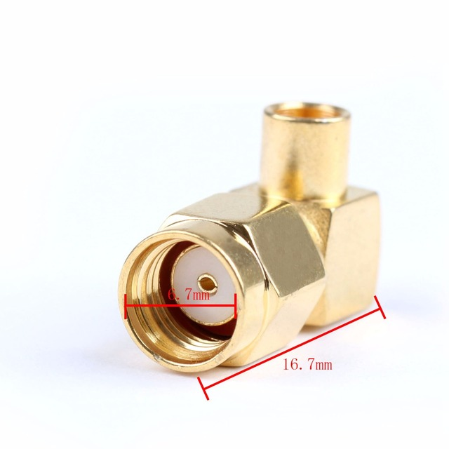 Areyourshop RP SMA Male Right Angle Plug Female For Semi-rigid RG402 0.141″ Connector 10pcs 50ohm Plug Jack Gold-Plated