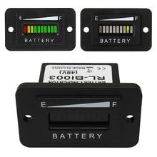 Подходит для ezgo клуб автомобиль YAMAHA Гольф черный профессиональный Батарея индикатор тестер вольтаметр 48 В LED 37 мм x 25 мм цифровой