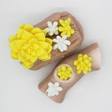 3D stereoscopic fleshy flower succulent plants Cactus sugar craft molds chocolate candle plaster silicone mold