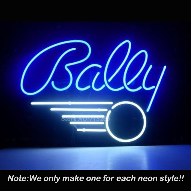 BALL PINBALL GAME Neon Sign Recreation Game Room WALL Handcraft Neon Bulbs Real Glass Tube Store Display Commercial Lamp VD17x14