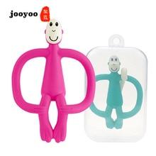 Купить с кэшбэком Baby Toys Kids Birth Gift Teethers Toy Love Children Color Monkey Teething Stick jooyoo