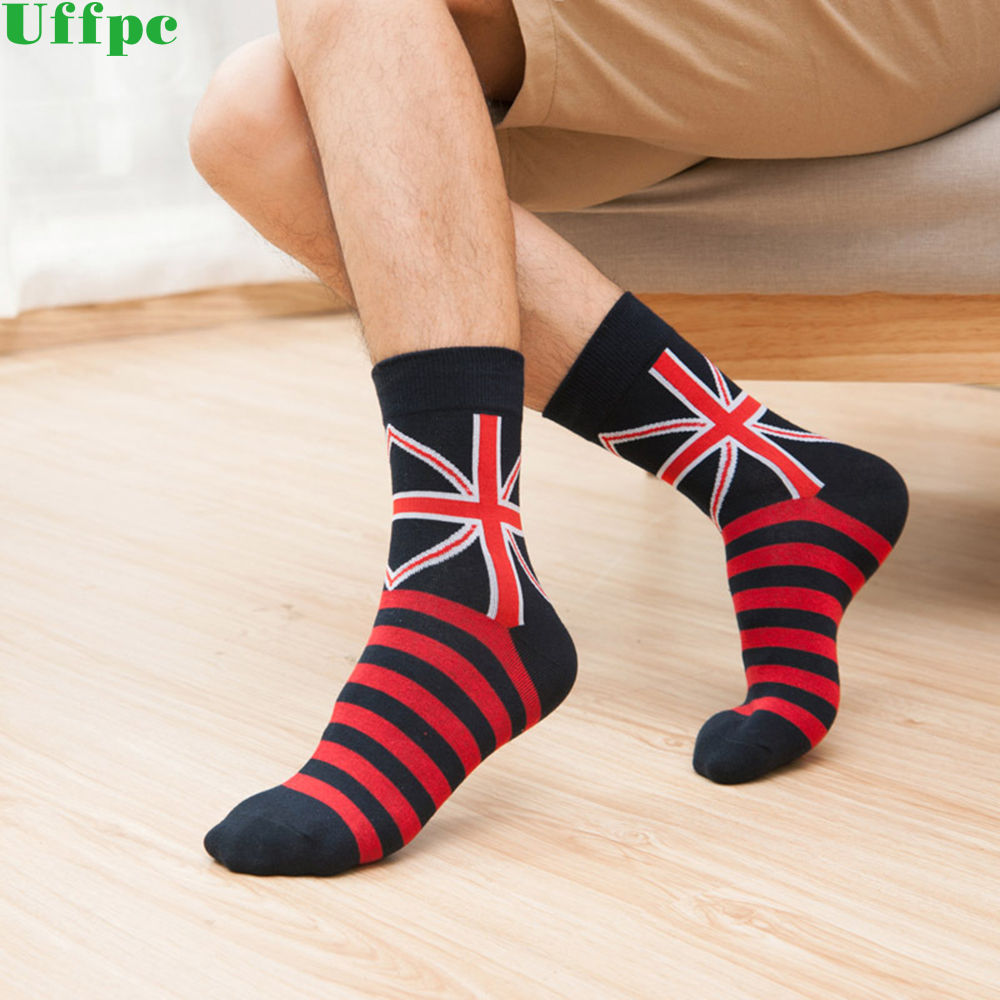 5 Pairs/lot Stripes mens combed cotton socks brand man dress knit socks Wedding Gifts Free shipping US size(7.5-12)