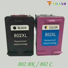 2piece Black and Color  Inks Cartridge for HP 802XL For Deskjet 1000 1050 2000 2050 3050